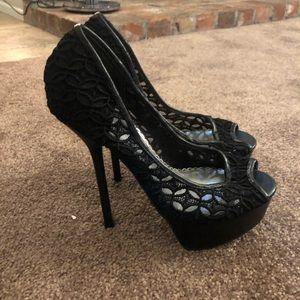 Bebe black high heel shoes